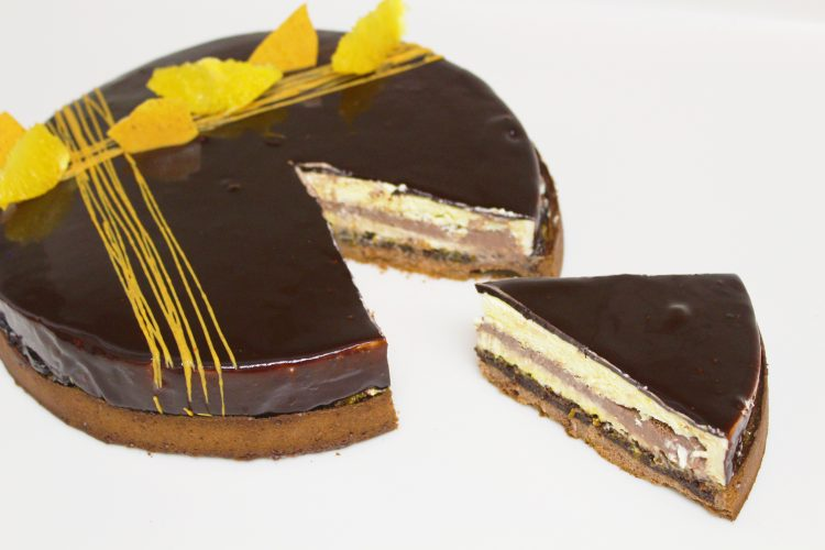 Tarte-Entremet Orange Chocolat