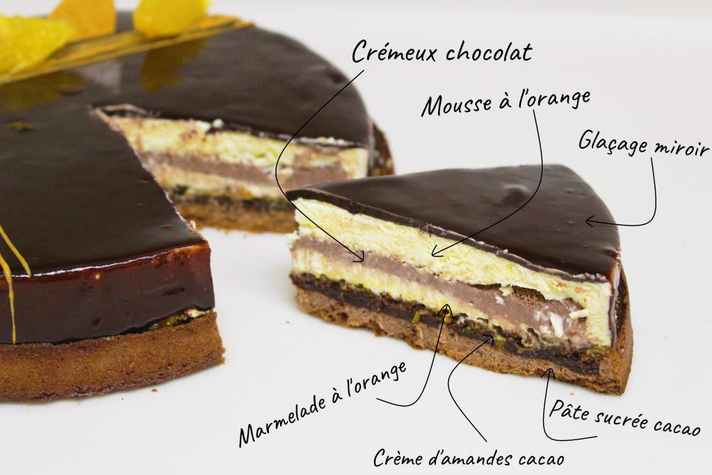Tarte-Entremet Orange Chocolat