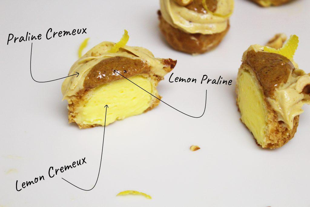 Praline and Lemon Puffs