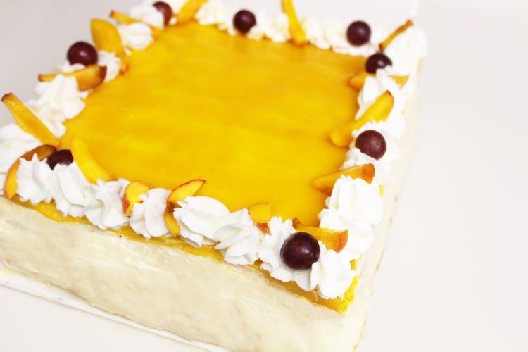 Gâteau Crème et Pêche