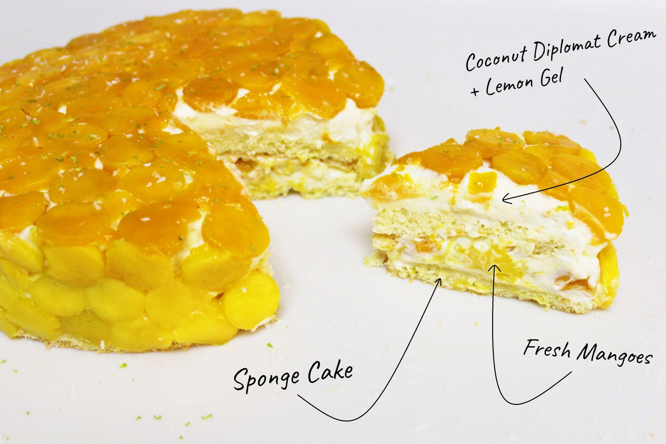 Coconut and Mango Cake