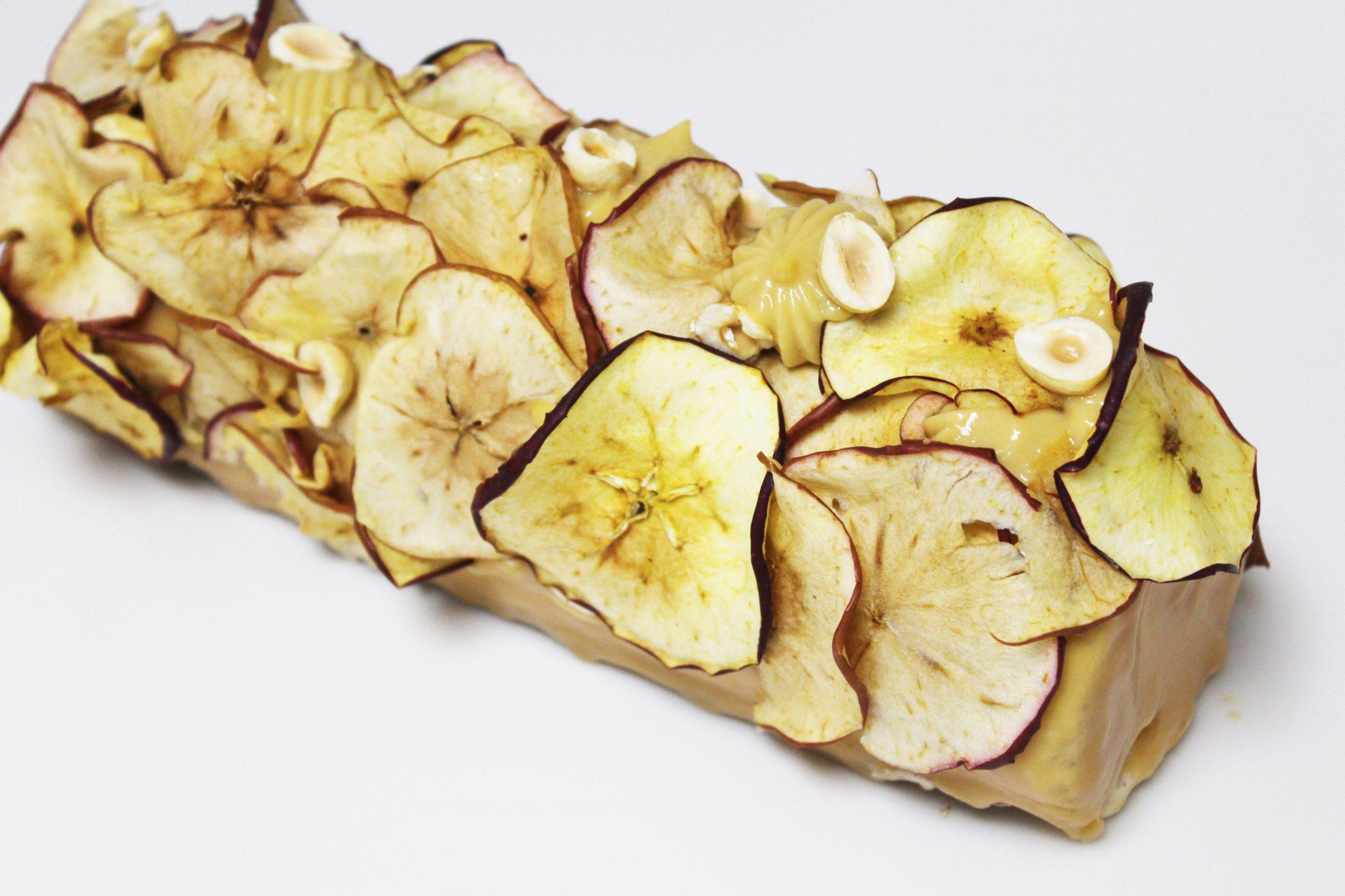Apple, Cinnamon, Caramel Yule Log